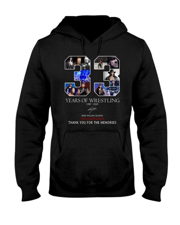 33 Years Of Wrestling The Undertaker Shirt Apparel