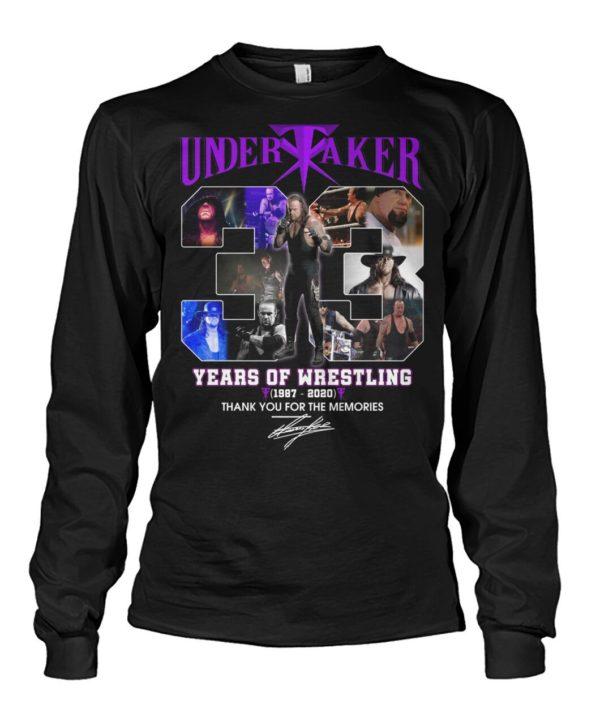 Undertaker 33 Years Of Wrestling 1987 2020 Signature Shirt Apparel