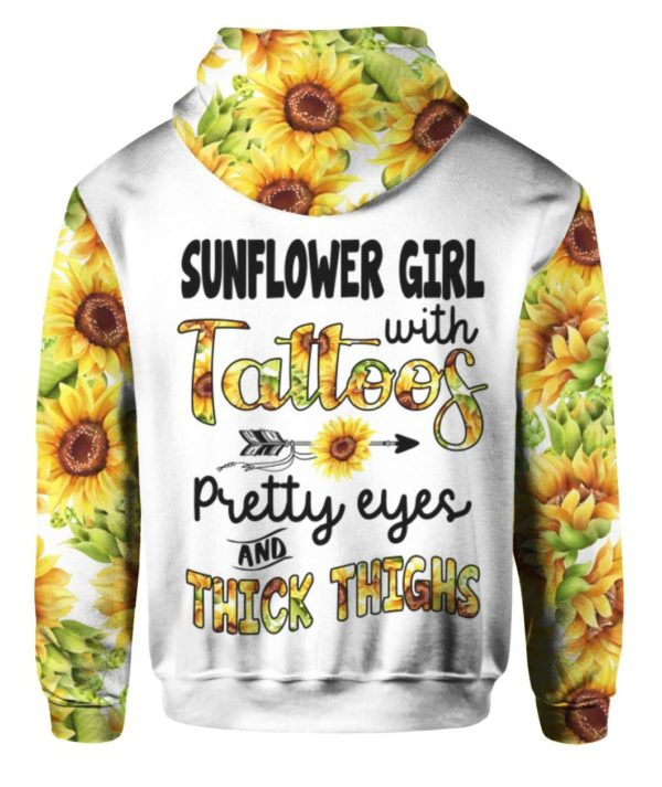 Sunflower Girl With Tattoos Pretty Eyes And Thick Thighs 3D All Over Print Shirt Apparel