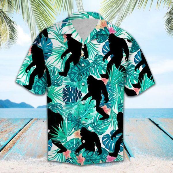 Bigfoot Tropical Hawaiian Shirt Apparel