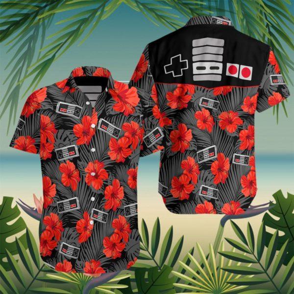 Retro Gamepad Hawaiian Shirt Apparel