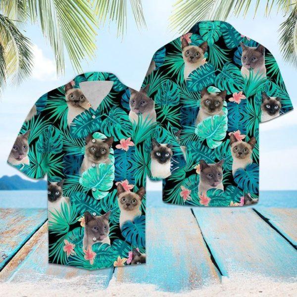 Tropical Siamese Hawaiian Shirt Apparel