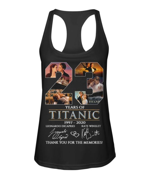 23 Years Of Titanic 1997 2020 Thank You For The Memories Shirt Apparel