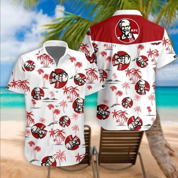 KFC Coconut Tree Hawaiian shirt Apparel