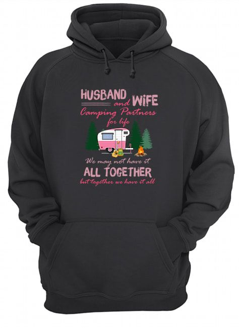 Husband and Wife Camping Partners For Life Shirt Apparel