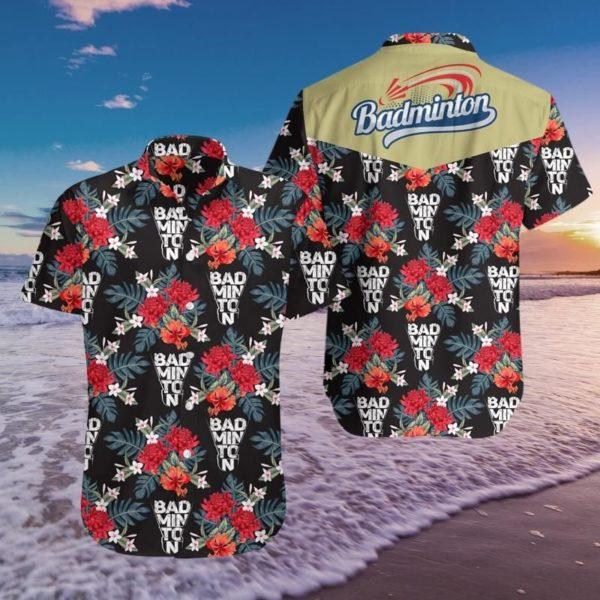 Badminton Hawaiian Pineapple Shirt Apparel