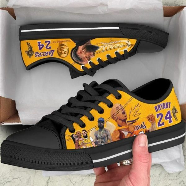 Kobe Bryant 24 Lakers & Nipsey Hussle Low Top Shoes Apparel