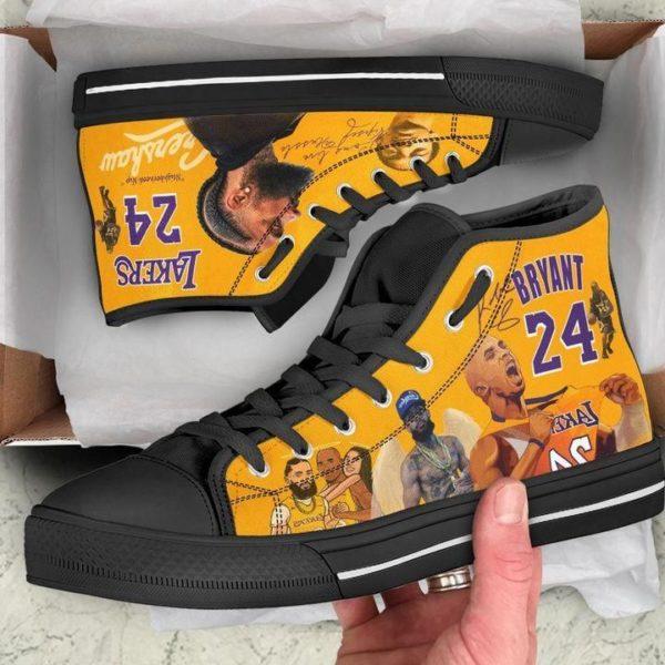 KOBE & GiGi Bryant 24 Lakers Unisex High Top Shoes Apparel