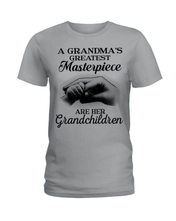 A Grandma's Greatest Masterpiece Are Her Grandchildren Shirt Apparel