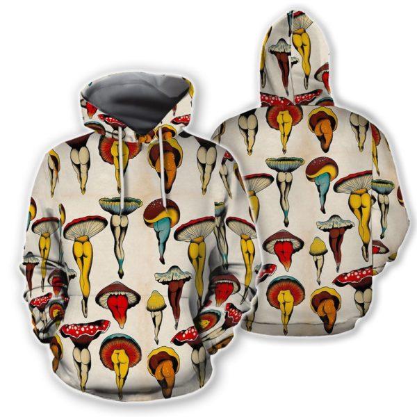 Sexy Mushrooms Boby 3D All Over Shirt | Button shirt Jisubin Apparel