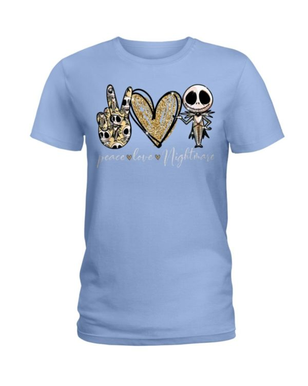 Peace Love Nightmare Shirt Apparel
