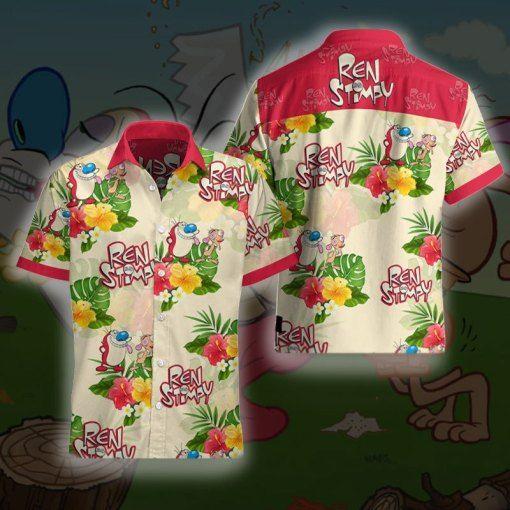 Ren and Stimpy Hawaii Shirt Apparel
