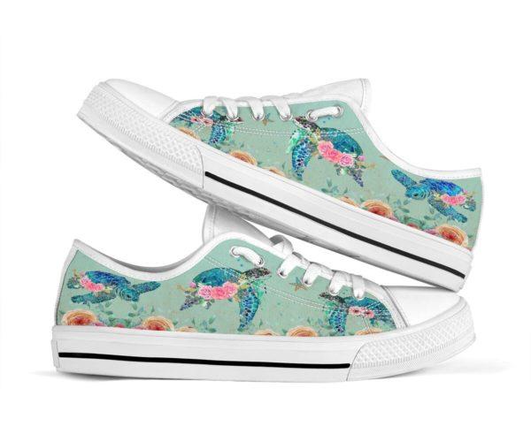 Turtle Sumer Ocean Low Top Shoes Men & Women Apparel