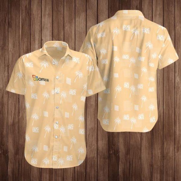 Office Hawaiian Button Shirt Apparel