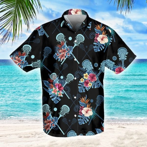 Lacrosse Tropical Hawaiian Button Shirt Apparel