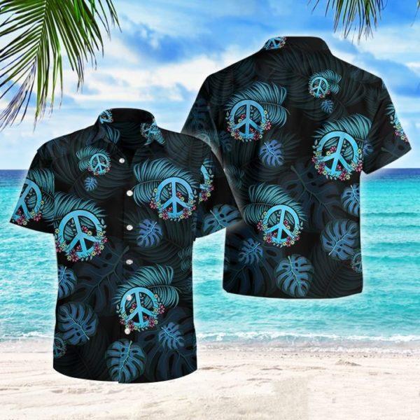 Hippies Tropical Hawaiian Button Shirt Apparel