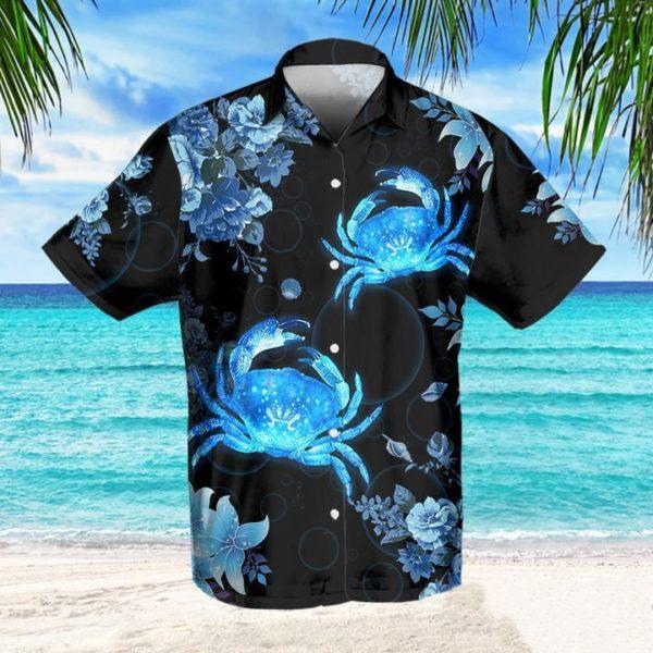 Crab Blue Hawaiian Shirt Jisubin Apparel