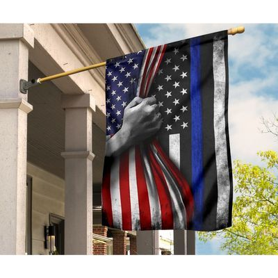 Black The Blue Flag   American Flag Apparel