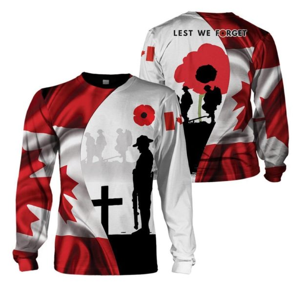 Lest We Forget 3D All Over Print T Shirt Apparel