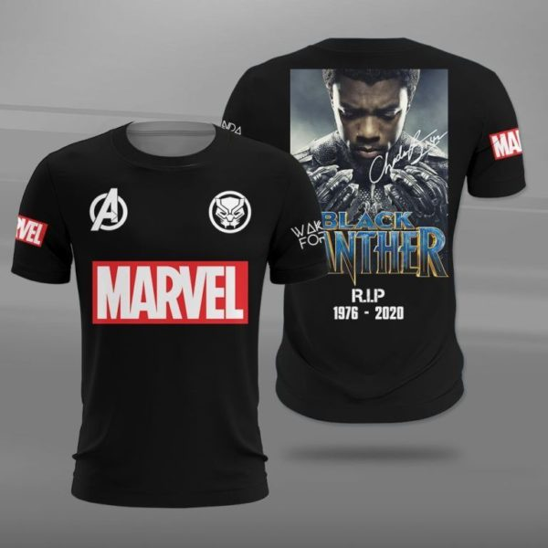 Marvel Black Panther R.I.P1976 2020 3D All Over Print T Shirt Apparel