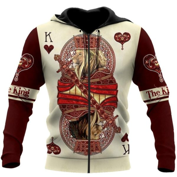 The King of Wildlife Lion Poker 3D All Over Print Shirt Apparel