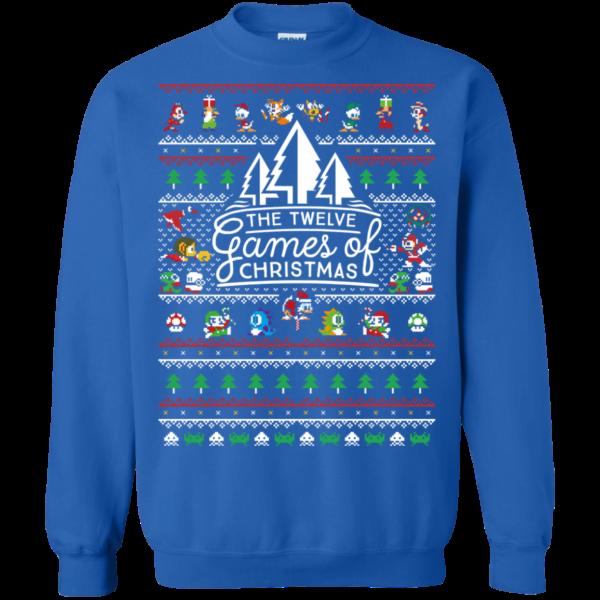 12 games of christmas sweatshirt ugly christmas sweater T Shirt Apparel
