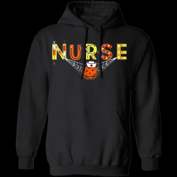 Nurse Halloween Shirt Gift With Pumpkin Boo Spider Witch Hat Shirt Apparel