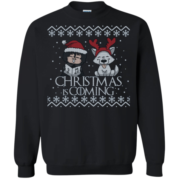 Christmas is coming with Jon Snow funny ugly sweater Apparel