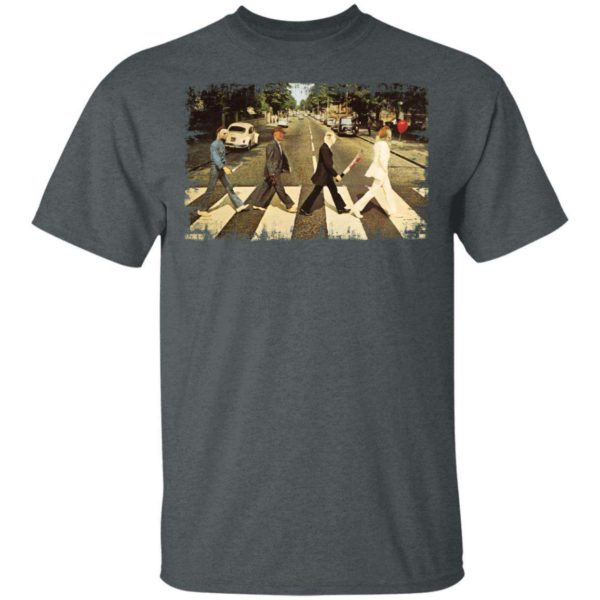 Freddy Krueger Michael Myers Jason Voorhees Pennywise On Abbey Road T shirt TT08 Apparel