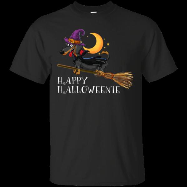 Happy Halloweenie Halloween Dachshund Dog T Shirt Apparel