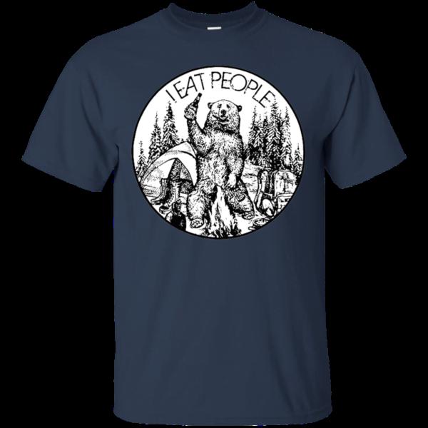 I Eat People Funny Bear T shirt Apparel