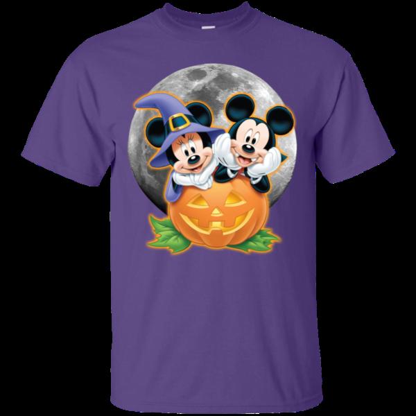 Mickey and Minnie pumpkin Halloween T Shirt Apparel