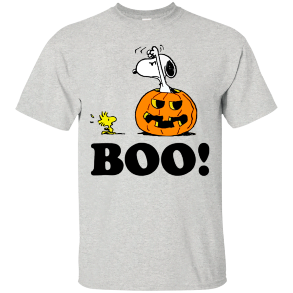 Peanuts Halloween Snoopy Woodstock BOO T Shirt Apparel