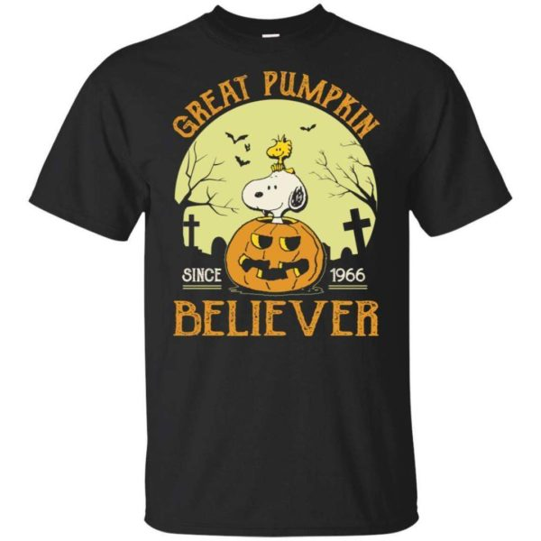 Snoopy Shadow Great Pumpkin Believer Since 1966 T Shirt Halloween TT08 Apparel