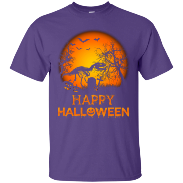 T Rex Skeleton Dinosaur Happy Halloween T shirt Apparel