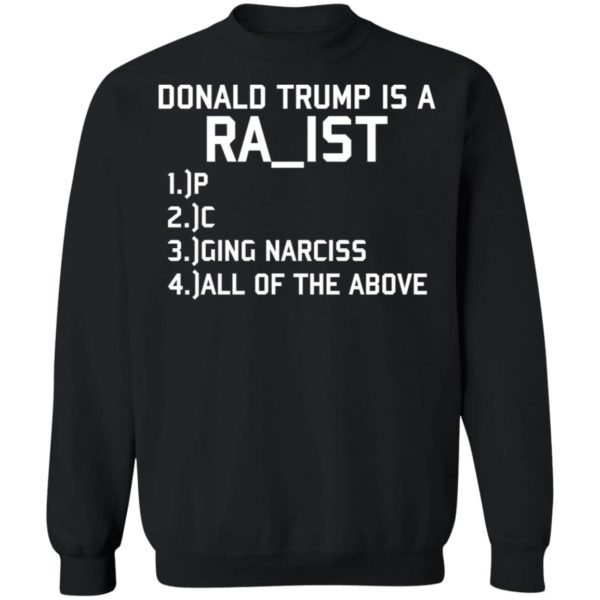 Donald Trump is a Racist shirt Apparel