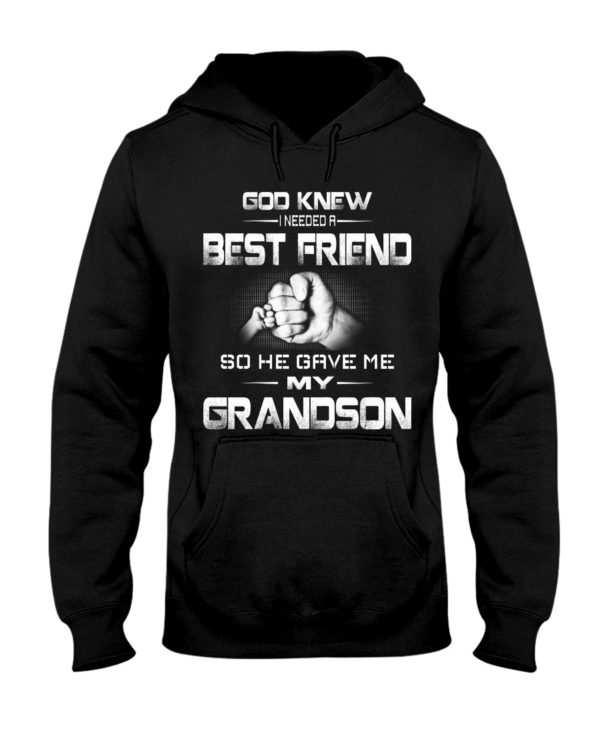 God Knew I Needed A Best Friend Grandpa and Grandson Shirt Apparel
