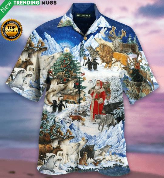 Wildlife Christmas Hawaiian Shirt Jisubin Apparel