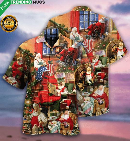 Santa Claus In Daily Life Hawaiian Shirt Jisubin Apparel