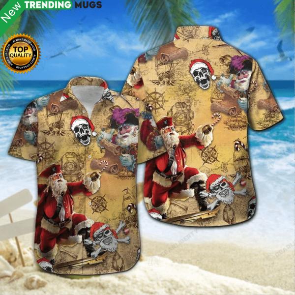 Who Loves Pirate Story On Christmas Time Hawaiian Shirt Jisubin Apparel