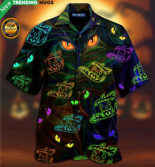 Groovy Pumpkins Cat Eyes Hawaiian Shirt Jisubin Apparel