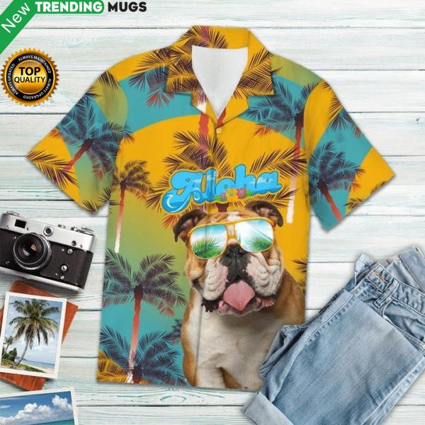 Bulldog Christmas Hawaiian Shirt Jisubin Apparel