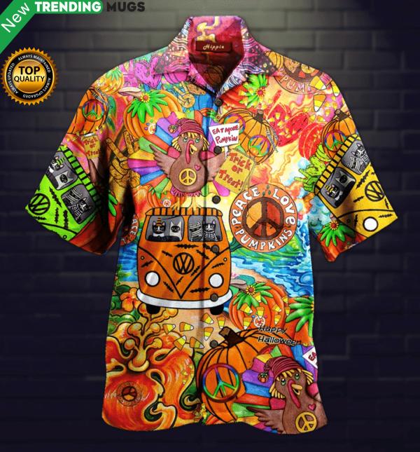 Hippie Halloween Hawaiian Shirt Jisubin Apparel