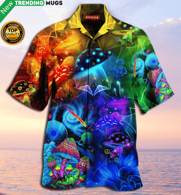 Amazing Magic Mushroom Hawaiian Shirt Jisubin Apparel