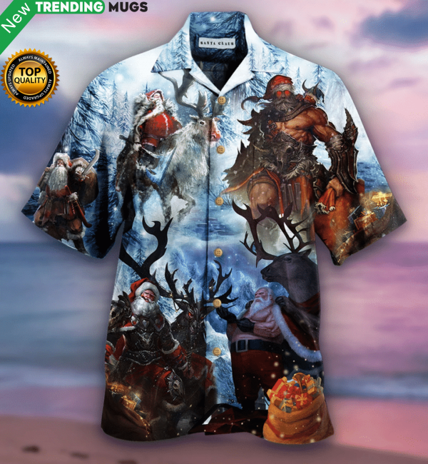 Stay Cool Santa Claus Hawaiian Shirt Jisubin Apparel