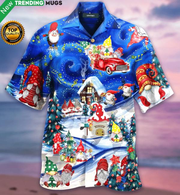 Hanging With My Gnomies Christmas Hawaiian Shirt Jisubin Apparel