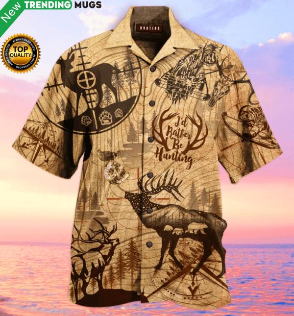 Amazing Hunting Deer Hawaiian Shirt Jisubin Apparel