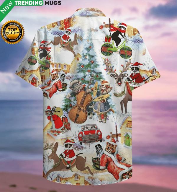 Meowy Christmas Hawaiian Shirt Jisubin Apparel
