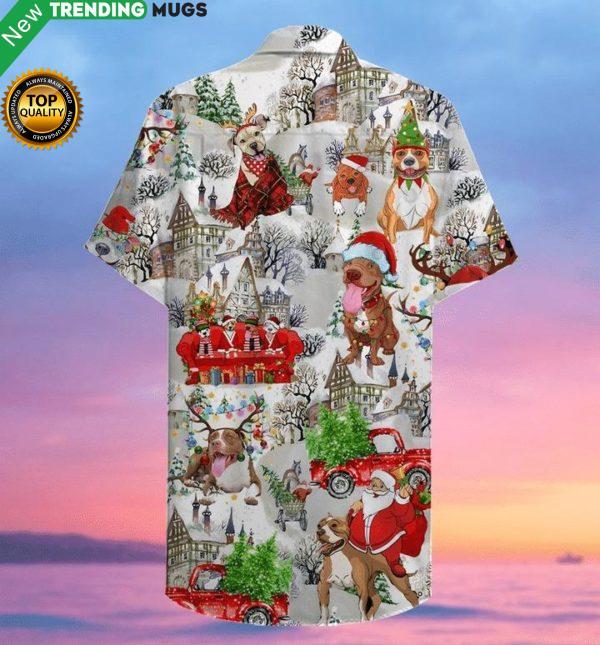 Christmas Pitbull Hawaiian Shirt Jisubin Apparel