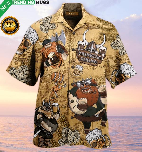 Viking Beer Christmas Hawaiian Shirt Jisubin Apparel